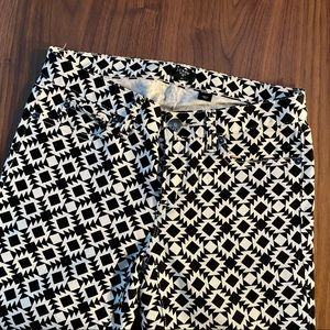 J. Crew Geometric-Patterned Cropped Jeans